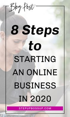 Do you want to start your online business quickly? This step-by-step action plan will help you start your online business in 8 steps. Starting a business doesn't have to be overwhelming. Start A Business From Home, Start Online Business, Naming Your Business, Work From Home Tips, Branding Your Business, Business Names, Starting A Business, Business Tips, Business Inspiration