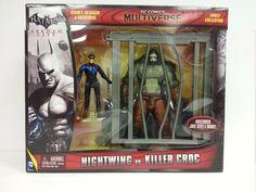DC Comics Multiverse Batman Arkham City Nightwing vs. Killer Croc