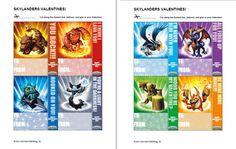I *love* that Skylanders has printable Valentines - wish our color printer worked! Cool!