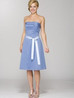 Bridesmaid dress. I want copperish/chocolate brown with the belt to be red for maid of honor and blue for the others