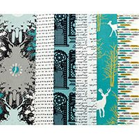Time for Nature - Fat Quarter Bundle. However urbane our lives become there's always time for nature. There's a mystique to the forest, a secret world where only if we wander silently will we encounter the creatures within.