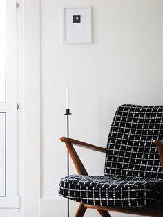 Nice modern fabric on a Danish Modern chair.