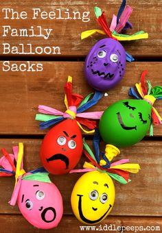 The Feeling Family Balloon Sacks Iddle Peeps Kids Activities