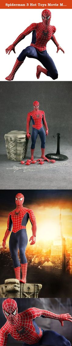 Spiderman 3 Hot Toys Movie Masterpiece 1/6 Scale Collectible Figure Spiderman. Hot Toys is proud to present the 1/6th scale SpiderMan Limited Edition Collectible Figurine from the SpiderMan 3 movie. The movieaccurate SpiderMan collectible is specially crafted based on the image of the iconic character SpiderMan in the movie, highlighting the superhero image, detailed costume, movieaccurate cobweb and figurine stage. The 1/6th scale SpiderMan Limited Edition Collectible Figurine specially...