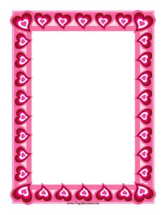 This heart border might be the perfect beginning for a love note or a Valentine's project. Free to download and print.