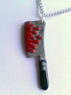 Meat Cleaver Necklace by ZombieHeart on Etsy, $12.00