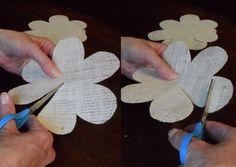 Easy DIY Tutorial | How to Make Burlap Roses | DIY Projects & Crafts by DIY JOY at http://diyjoy.com/how-to-make-burlap-roses-tutorial