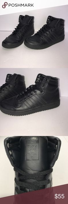 Black Adidas Top Ten Hi • Gently used • Size 7 Men • Fit Women's 8 • adidas Shoes Sneakers