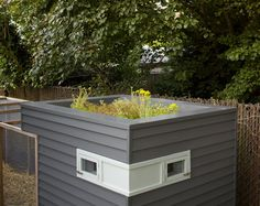 coop dreams - green roof  (another fun thought for city farmers - I'd hate to have a coop nicer than my house tho!!)