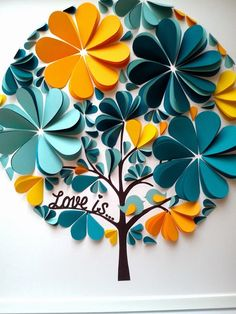 Items similar to original guest book - wedding guest book - birthday guest book - baby shower guest book on etsy - Colorful Wedding Ideas Paper Flowers Diy, Flower Crafts, Diy Paper, Paper Art, Paper Crafts, Free Paper, Diy And Crafts, Crafts For Kids, Wedding Guest Book