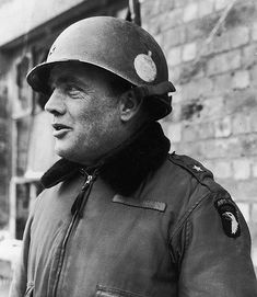 General Anthony McAuliffe, commander of the 101st Airborne at Bastogne during the Battle of the Bulge. February 1945