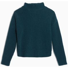 Max&Co. Soft knit mock polo neck ($145) ❤ liked on Polyvore featuring tops, sweaters, dark green, long sleeve sweater, blue turtleneck sweater, knit sweater, dark green sweater and mock turtle neck sweater