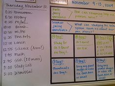 A key part of a student's learning goals for middle school? Organization, organization, organization.