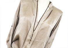 Ketten lang - 2x Ketten Y-Kette schwarz braun & zierliche... - ein Designerstück von AT-Schmuck bei DaWanda