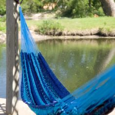 Island Bay XXL Hand Woven Caribbean Stripe Thick String Hammock - Hammocks at Hayneedle