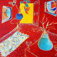 "Here's another golden oldie, ""Room Study"" circa 1996 🖌❤ #studio #dots #art #painting #acrylic #room #decor #wallart  #instaart #artsy #myart #abstractart #dotpainting #originalart #lordydordie"