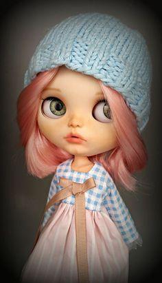 • ♥ * ´¨* •. ¸PEYTON¸. • * ´¨* • ♥ Bambola Blythe personalizzato da Sony • IL LAVORO SVOLTO E DETTAGLI • -Viso completamente sabbia arruffati e