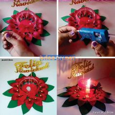 Manualidades para navidad adornos hechos a mano con materiales reciclados Diy, Gifts, Crafts With Bottles, Crafts To Make, Creative Crafts, Glass Containers, Recycled Materials, Furniture, Presents
