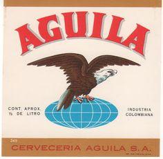 Etiquetas de Cervezas Colombianas: AGUILA