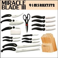Amazon.com: Miracle Blade III 16 Piece Knife and Block Set Miracleblade: Kitchen & Dining