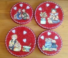 Gingerbread Burner Covers..Gingerbread by CraftsByJoyice on Etsy