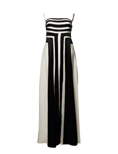 Long evening gown, simple and geometric.... nice