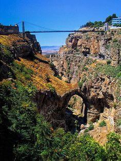 Sidi M'Cid Bridge in Constantine, Algeria.