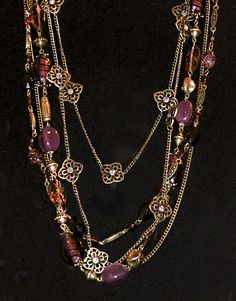 Whimsical Necklace and Purple Iris Necklace Layered ~ #PremierDesigns jewelry #weheartpremier