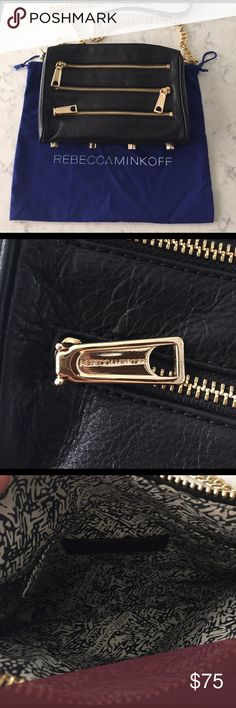 Rebecca Minkoff crossbody Worn once. Ended up buying something very similar that fits my style better. Trying to downsize my closet! This beauty needs a new owner that can wear often!! Rebecca Minkoff Bags Crossbody Bags