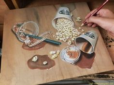 Hyper-realistic Pencil Art on Wood By Ivan Hoo Realistic Eye Drawing, Realistic Paintings, 3d Drawings, Pencil Drawings, Illusion Drawings, Art Hyperréaliste, Art 3d, Hyperrealistic Drawing, Water Drawing