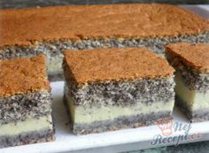 Magic cake with poppy seeds and curd cheese Top-Rezepte.de - Magic cake with poppy seeds and curd cheese Top-Rezepte. Quark Recipes, Ice Cream Recipes, Cheesecake Recipes, Cupcake Recipes, Easy Smoothie Recipes, Good Healthy Recipes, Sweet Recipes, Czech Desserts, Fall Desserts