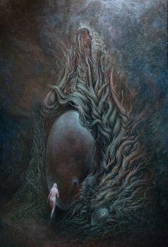 Lovecraftian art by Guido Ricciardelli Dark Fantasy Art, Fantasy Artwork, Dark Art, Arte Horror, Horror Art, Lovecraftian Horror, Eldritch Horror, Arte Obscura, Creepy Art