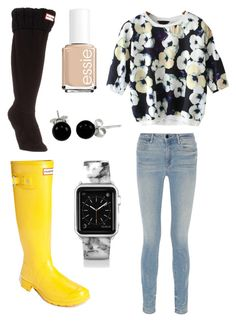 """""""Floral"""" by sydddneysmith on Polyvore featuring Hunter, Alexander Wang, Casetify, Bling Jewelry and Essie"""