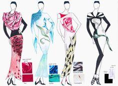 Fashions Sketches of Modern Muslim Clothing