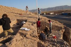 Significant Bronze Age city discovered in Northern Iraq.  Excavating the eastern slope of the upper part of Bassetki, where several fragments of Assyrian cuneiform tablets  were discovered [Credit: P. Pfälzner]