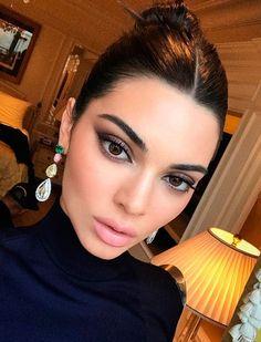 kendall jenner - celebrity beauty looks Kendall Jenner Make Up, Nails Kylie Jenner, Kardashian Jenner, Kendall Jenner No Makeup, Kendall Jenner Eyebrows, Kris Jenner, No Make Up Make Up Look, Eye Make Up, Teen Vogue