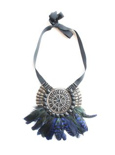 Matthew Williamson - Feather and Bead Necklace