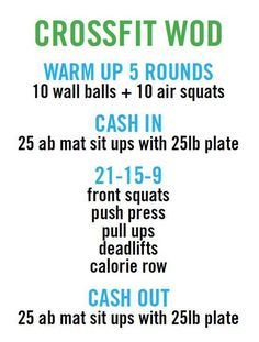 For crossfit workout (WOD). Crossfit Wods, Crossfit At Home, Crossfit Outfit, Crossfit Routines, Fun Workouts, At Home Workouts, Extreme Workouts, Fitness Workouts, Wod Workout
