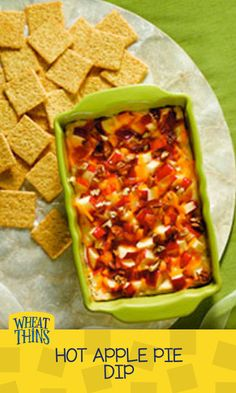Apple.  Pie.  Dip.  That's right.  Served warm, this cheesy apple pie dip will have you thinking thoughts of autumn, when basketball season begins all over again.