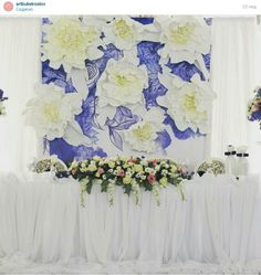 Flowers backdrop wedding