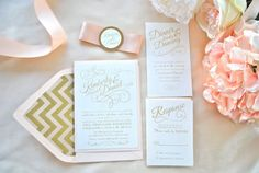 PERFECT $$$ Romantic Blush Wedding Invitation by OuttheBoxCreative on Etsy