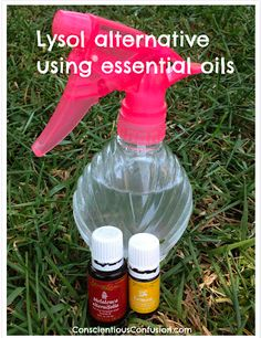 Lysol Alternative Using Essential Oils from Conscientious Confusion
