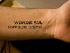 Words Fail - Music Speaks