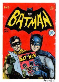 Golden Age Batman infinity cover homage with Silver Age TV Batman, Adam West, and Robin, Burt Ward. Characters and such copyright DC Entertainment. Batman Tv Series, Batman The Animated Series, Marvel Comics Superheroes, Dc Comics Art, Batman 1966, Batman Robin, Real Batman, Batman Stuff, Crime