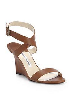 Manolo Blahnik - Lecara Wedge Sandals