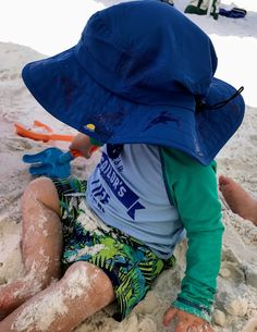 0e41e128 Sun protection clothing for kids include long sleeves rash guards, uv  protection swim suits and wide brimmed hats.