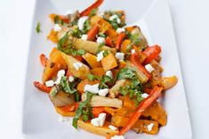 Roasted Vegetables with Basil and Feta