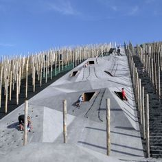 This is an image of what Carve and Omgeving Design calls Playscape. This was designed in Beringen, Belgium offering a sustainable yet fun space for people of all cultures. I never thought landscape architects do these types of spaces and I thought it was really interesting how the designers created a connection between a sustainable and entertaining space. I want to design spaces like this when I become a Landscape Architect because of the endless opportunities and uniqueness that is…