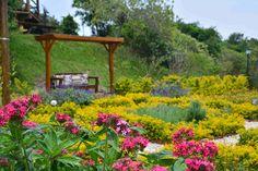 Pousada Quinta da Serra Jardim repleto de flores com muito romantismo e charme