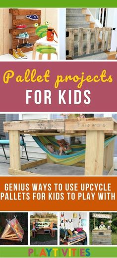 25 FUN PALLET PROJECTS YOUR KIDS WILL APPRECIATE I love fun pallet projects especially if I can turn them into something useful for the kids. I found these pallets projects on Pinterest and decided to share them here with you. #FunPalletProjects #PalletProjectsForKids #PalletProjectsKidsLove #CraftActivities #Parenting #CoolIdeasForKids #FunForKids #UsefulIdeasForKids